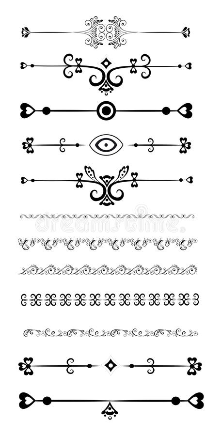 Download Ornamental rule lines stock vector. Image of clip, accent -  40419660. ornamental lines rule styles design set different ...