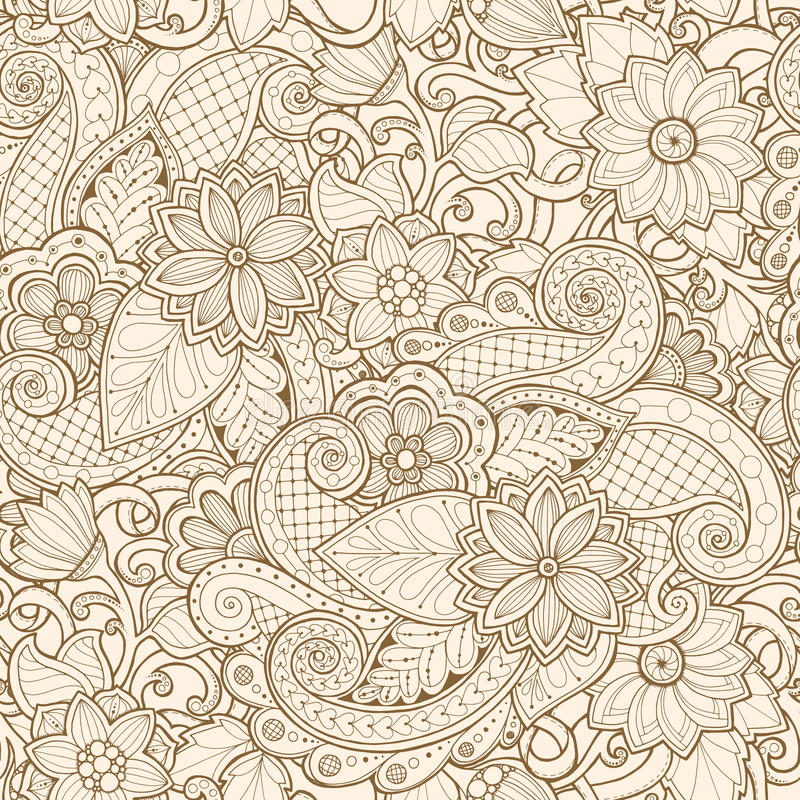 Ornamental seamless ethnic pattern. For wallpaper, pattern fills, textile, fabric, wrapping, surface textures for design royalty free illustration
