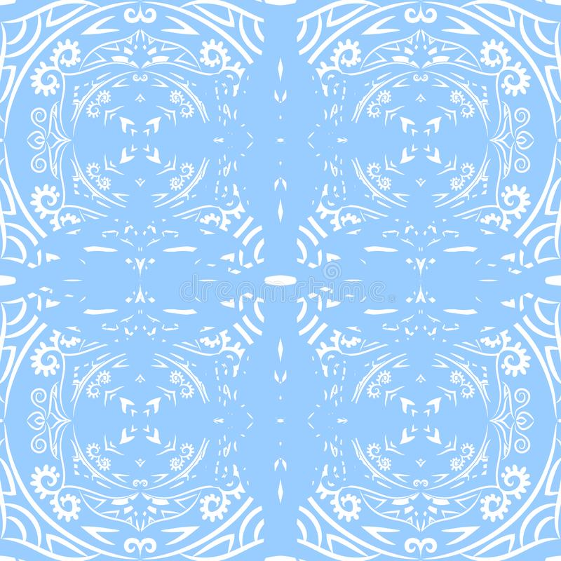 Ornamental seamless pattern. Abstract background can be used for wallpaper, website, textile, prints, fabric, wrapping paper. Ornamental seamless light pattern stock illustration
