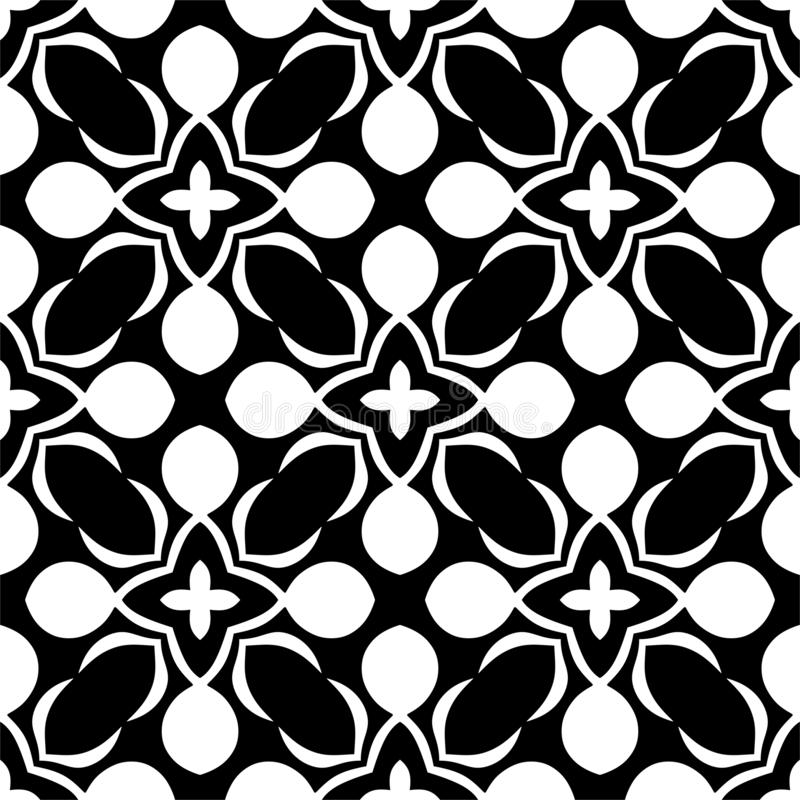 Seamless pattern black and white royalty free stock image