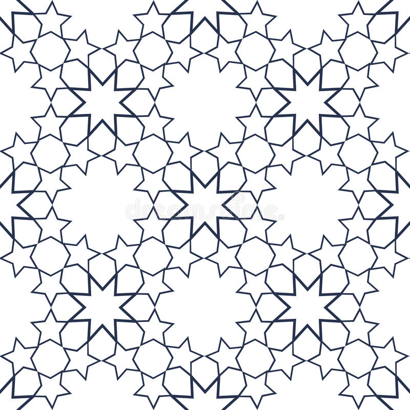 Ornamental seamless pattern in islamic style. Vector abstract background. royalty free illustration