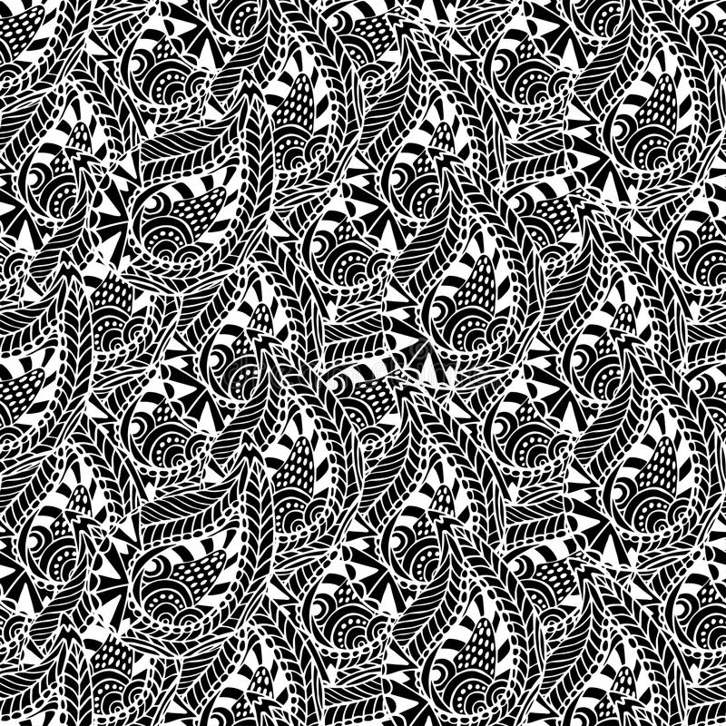 Ornamental seamless pattern. Vector black and white texture. Seamless template can be use for wallpaper, pattern fills, tex. Ornamental seamless pattern. Vector vector illustration