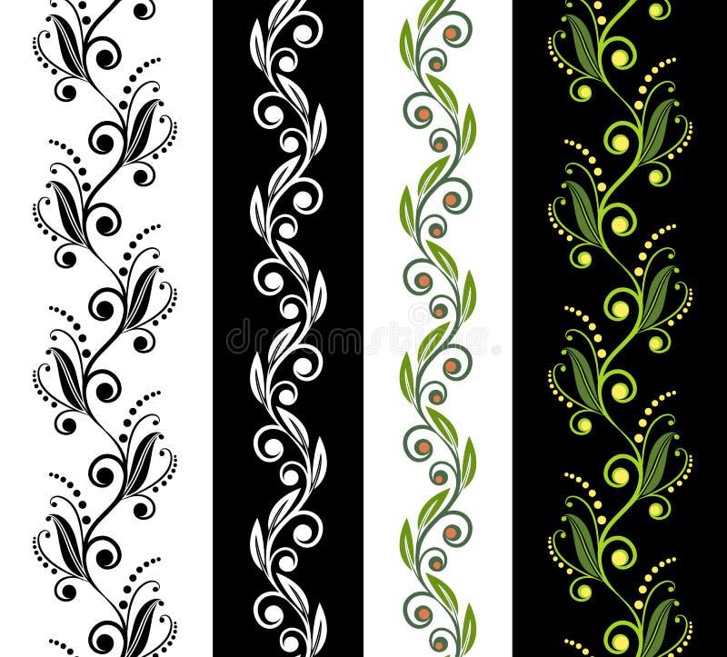 Ornamental seamless patterns stock illustration