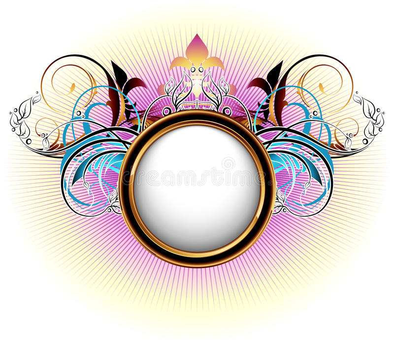Ornamental shield stock illustration