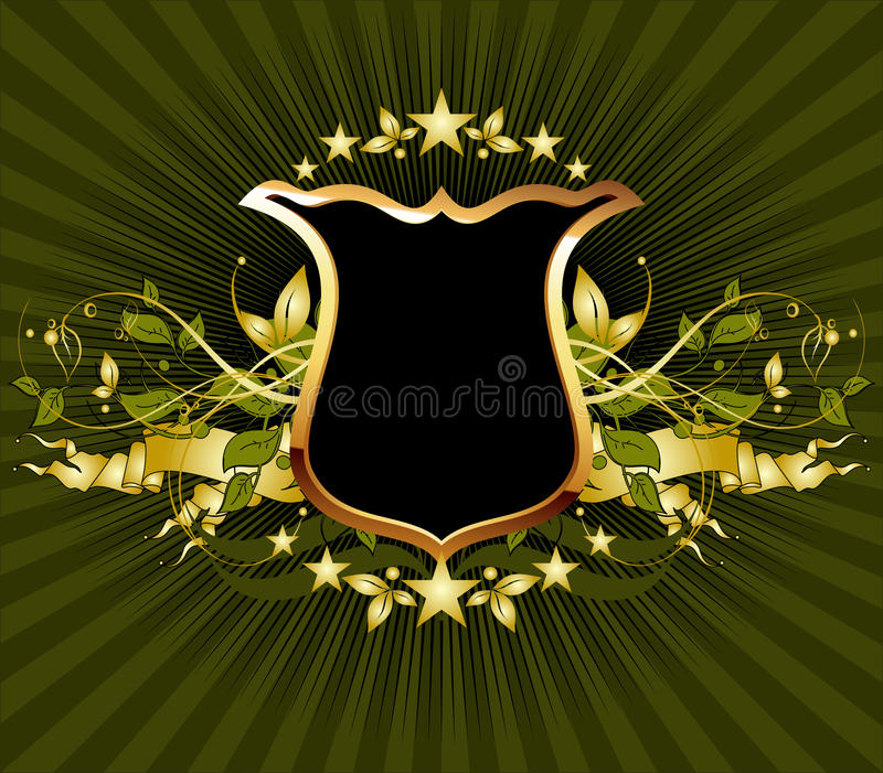 Download Ornamental shield stock vector. Image of lighting, decoration - 18800248