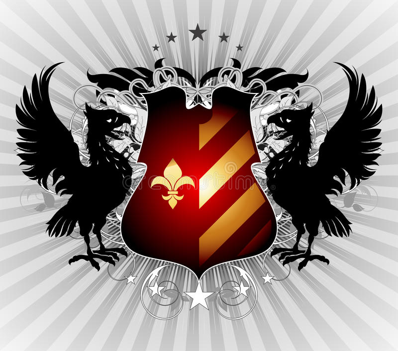 Download Ornamental shield stock vector. Image of eagle, background - 20073002