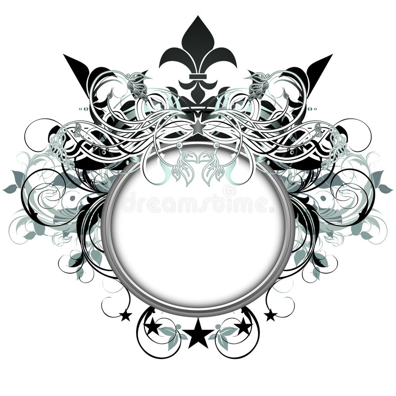Ornamental shield royalty free illustration