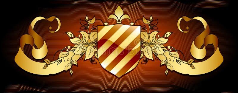 Download Ornamental shield stock vector. Illustration of retro - 9554982