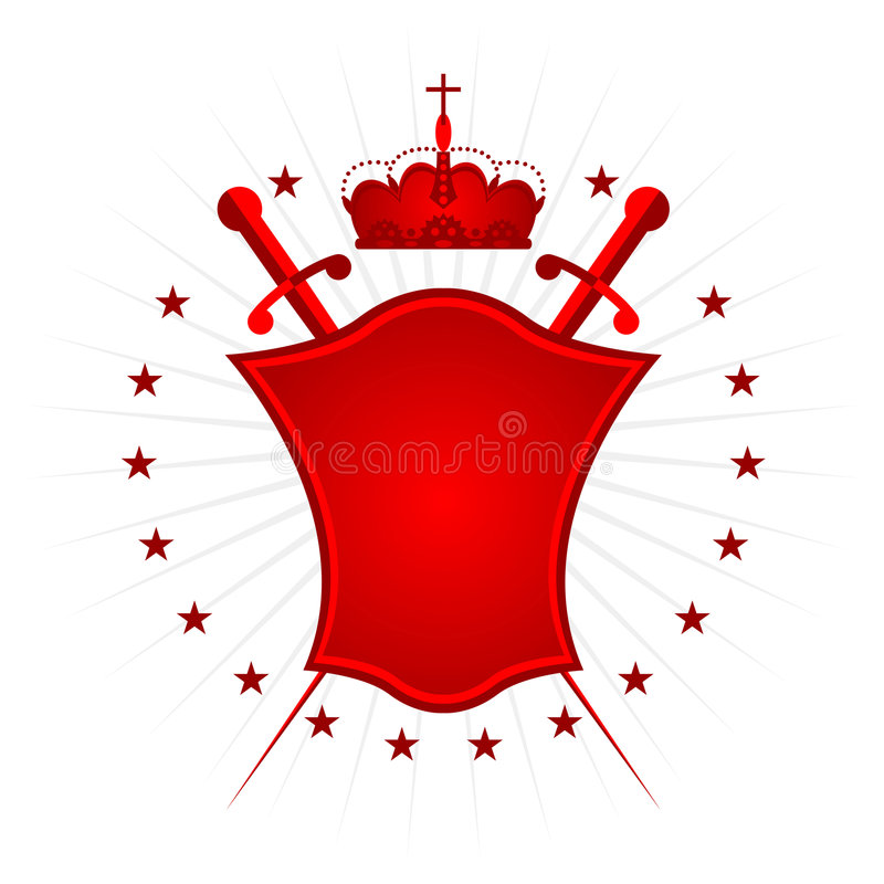 Ornamental shield red version