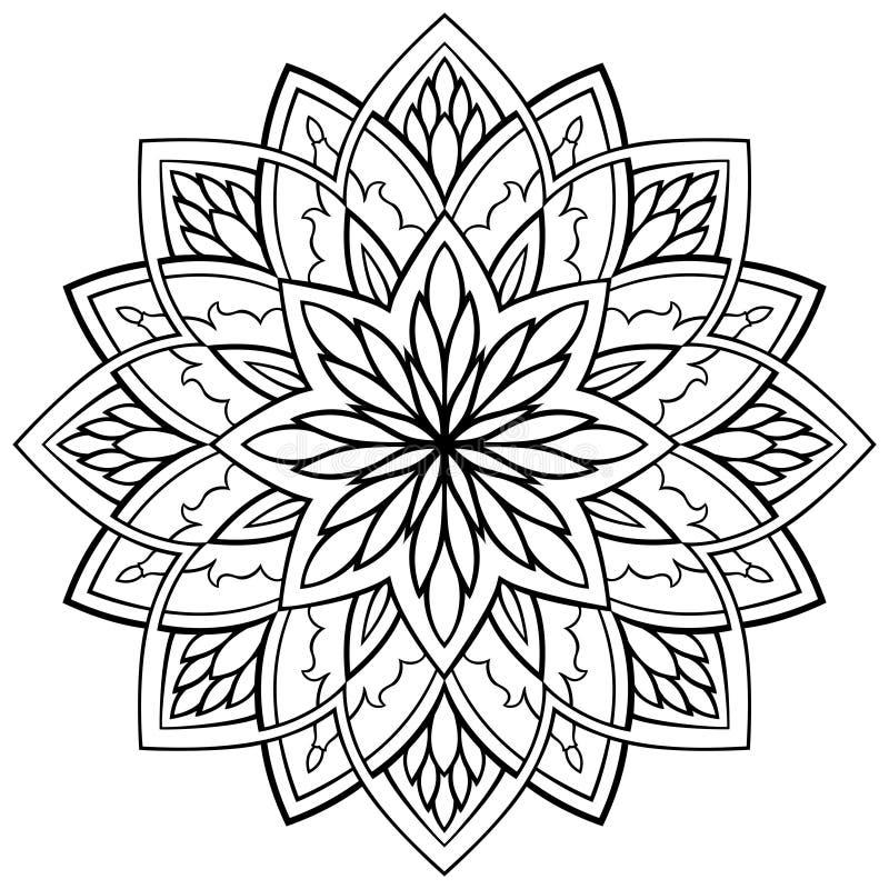 Vector Simple Mandala Stock Vector Illustration Of
