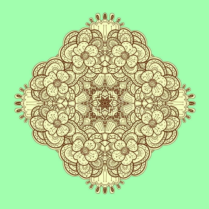 Download Ornamental Symmetrical Square Lace Pattern. Stock Illustration - Image: 28679129