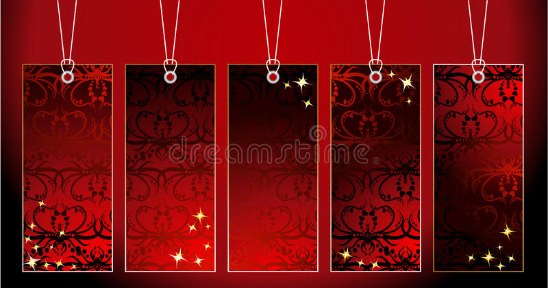 Ornamental tags royalty free illustration