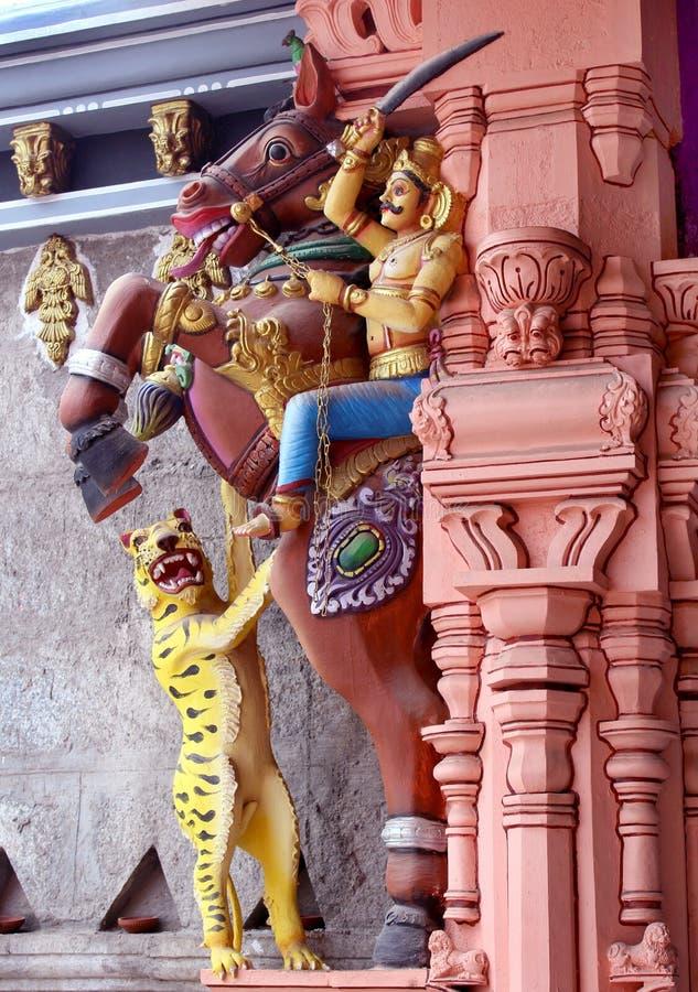 Ornamental temple pillar stock photos