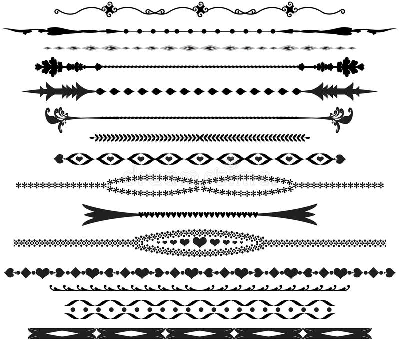 Download Ornamental Text Dividers Stock Image - Image: 24373791