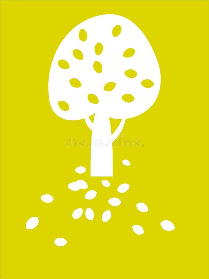 Ornamental tree stock illustration