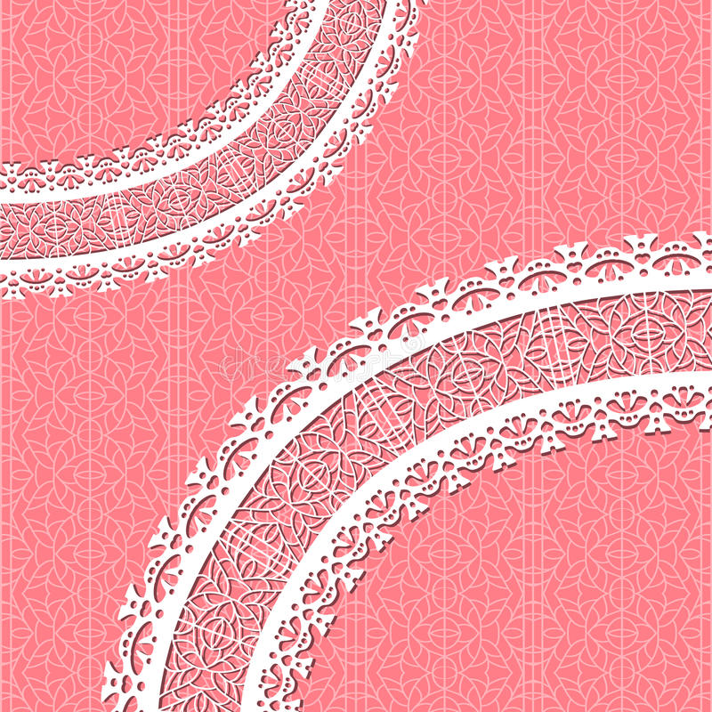 Ornamental vector lace background