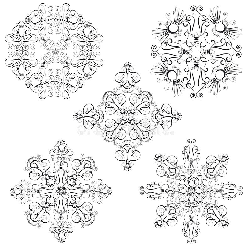 Download Ornamental vignettes stock vector. Image of graphic, pattern - 26019348