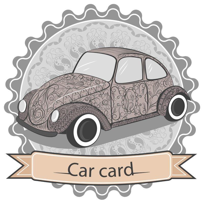 Ornamental vintage car royalty free illustration