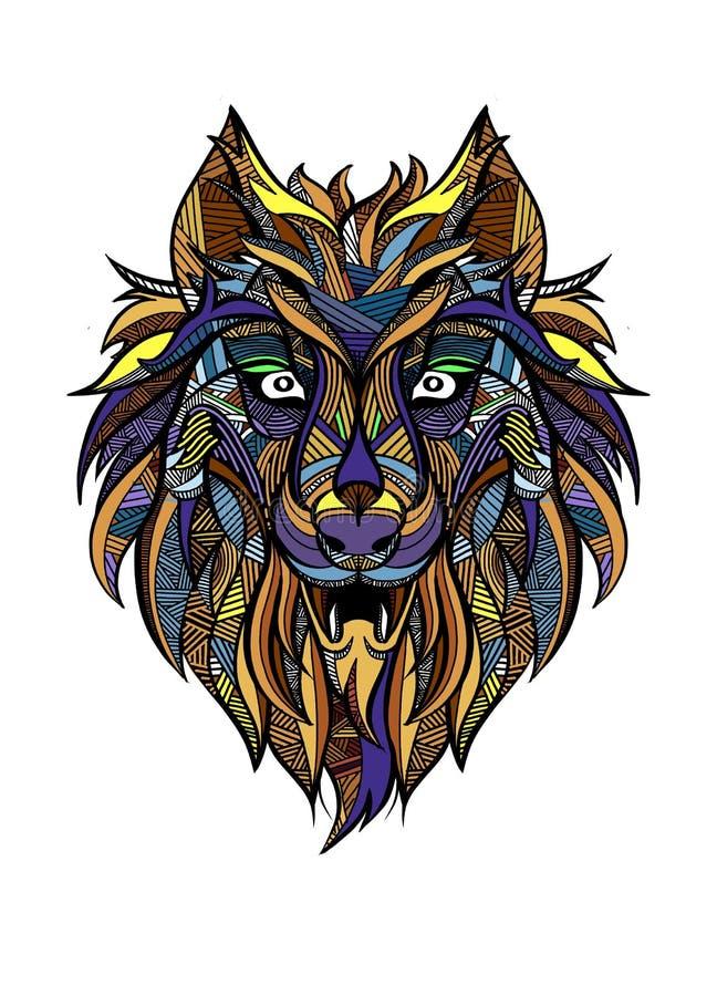 Wolf Tribal Tattoo Stock Illustrations – 995 Wolf Tribal