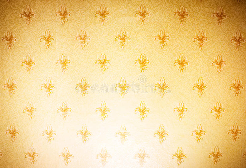 Ornamental wallpaper. Ornamental brown wallpaper with flower stock photography