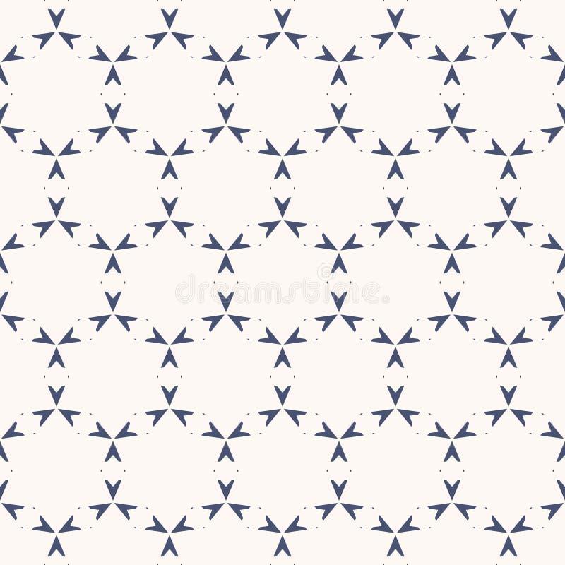 ornamental wektor deseniowy bezszwowy Subtelna biała i błękitna geometryczna tekstura ilustracja wektor
