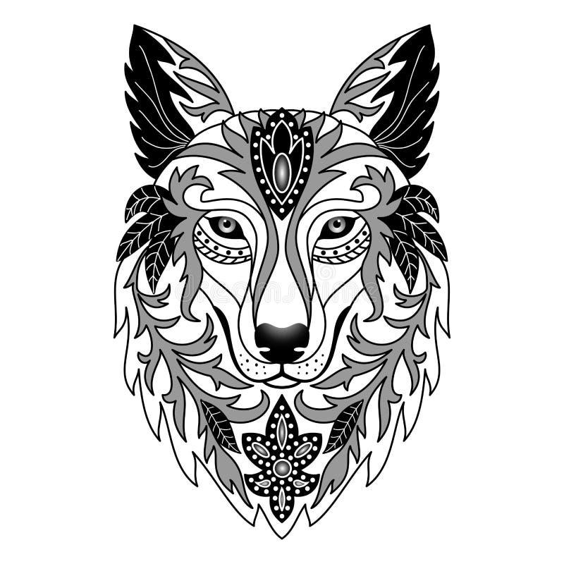 ornamental wolf stock vector illustration of elegance 59061324. Black Bedroom Furniture Sets. Home Design Ideas