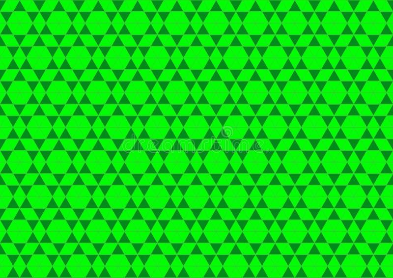Ornamentale orientale geometrico techno in carta da parati senza cuciture al neon del fondo del modello di colore verde illustrazione di stock