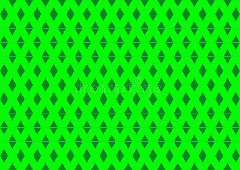 Ornamentale orientale geometrico techno in carta da parati senza cuciture al neon del fondo del modello di colore verde illustrazione vettoriale