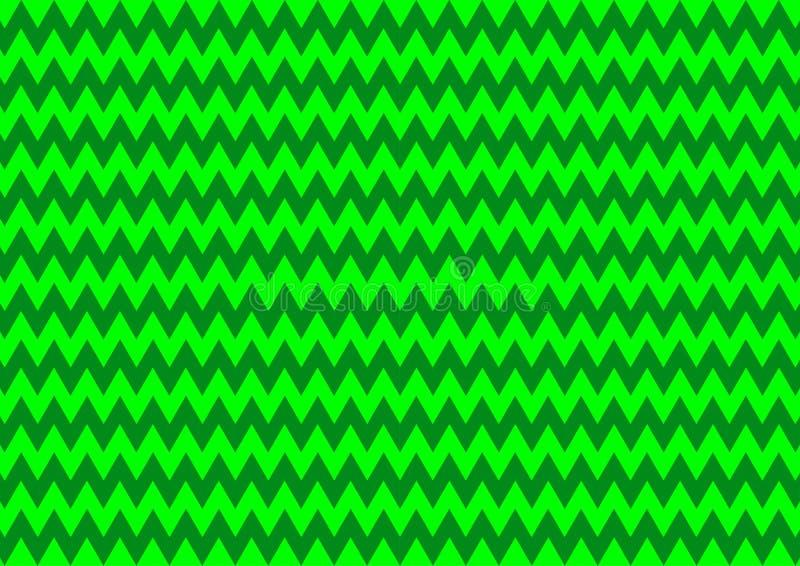 Ornamentale orientale geometrico techno in carta da parati senza cuciture al neon del fondo del modello di colore verde royalty illustrazione gratis