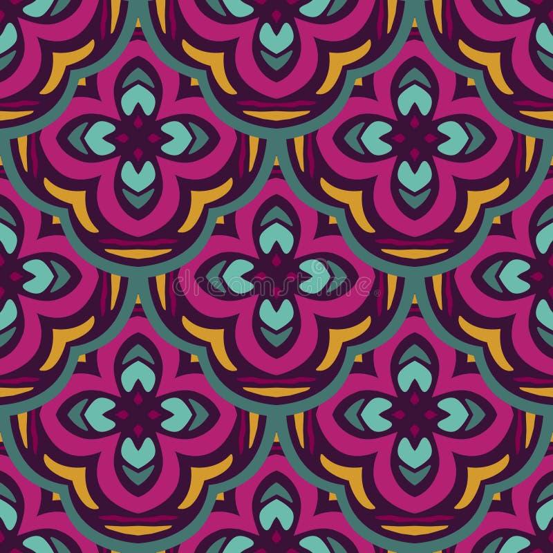 Ornamentale senza cuciture etnico geometrico gotico variopinto del modello dell'estratto royalty illustrazione gratis