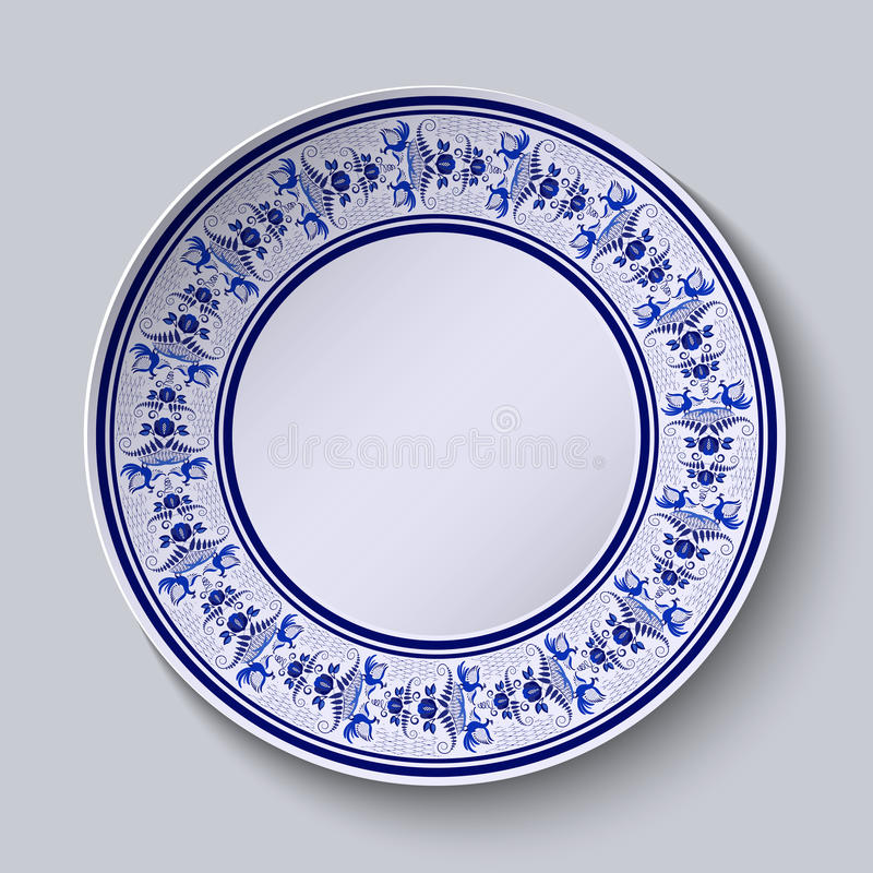 The Ornamented Decorative Plate. Template Design In Ethnic Style ...