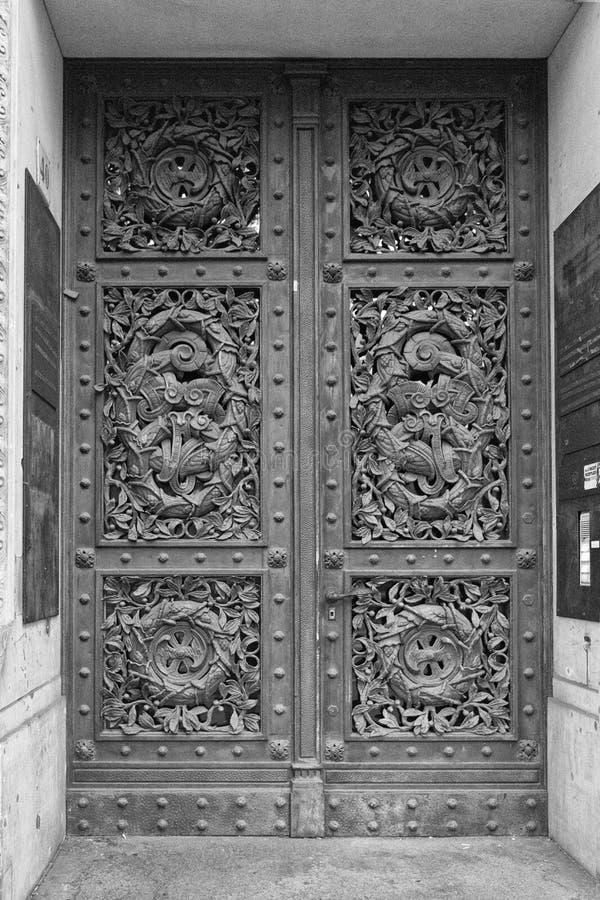 Ornamented door in Berlin royalty free stock images