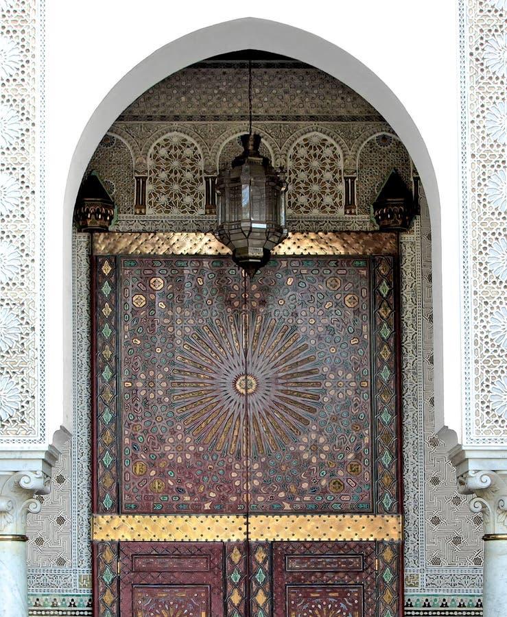 Ornamented door of a Mosque In Casablanca. Ornamented door of a Mosque, Casablanca, Morocco stock photo