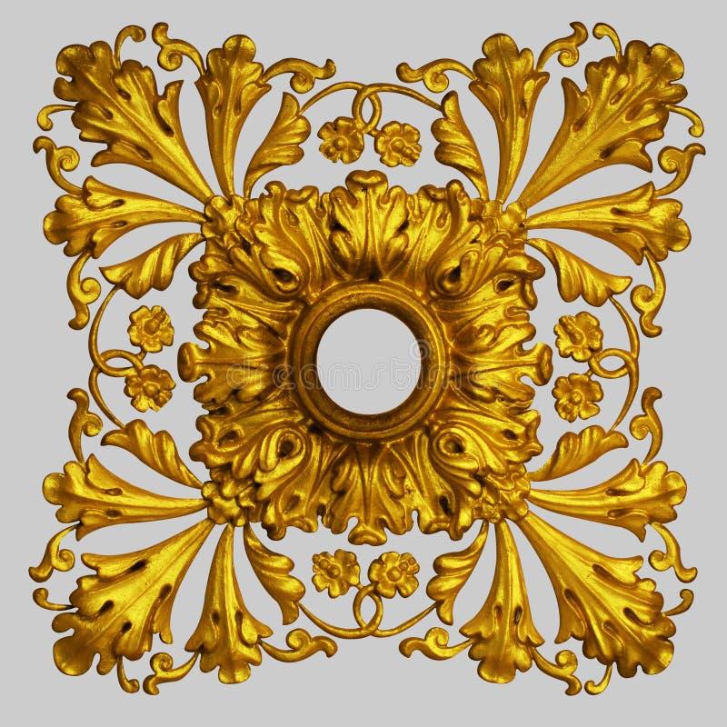 Ornamentelementen, uitstekende gouden bloemenontwerpen royalty-vrije stock foto's