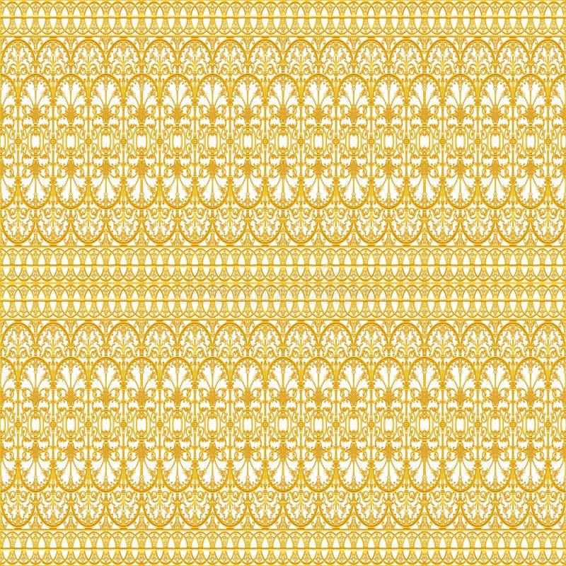 Ornamentelementen, uitstekende gouden bloemenontwerpen stock afbeeldingen