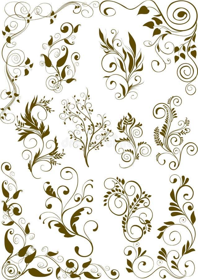 Ornamenten stock illustratie