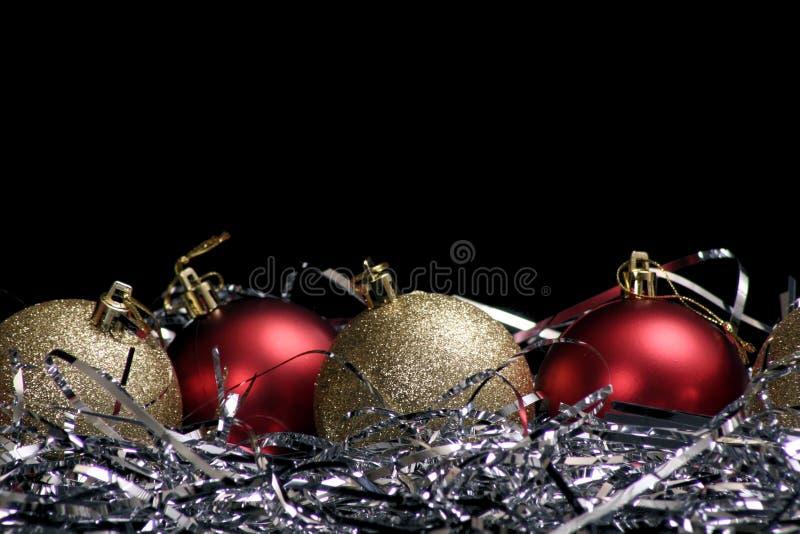 Ornamenten met klatergoud stock foto