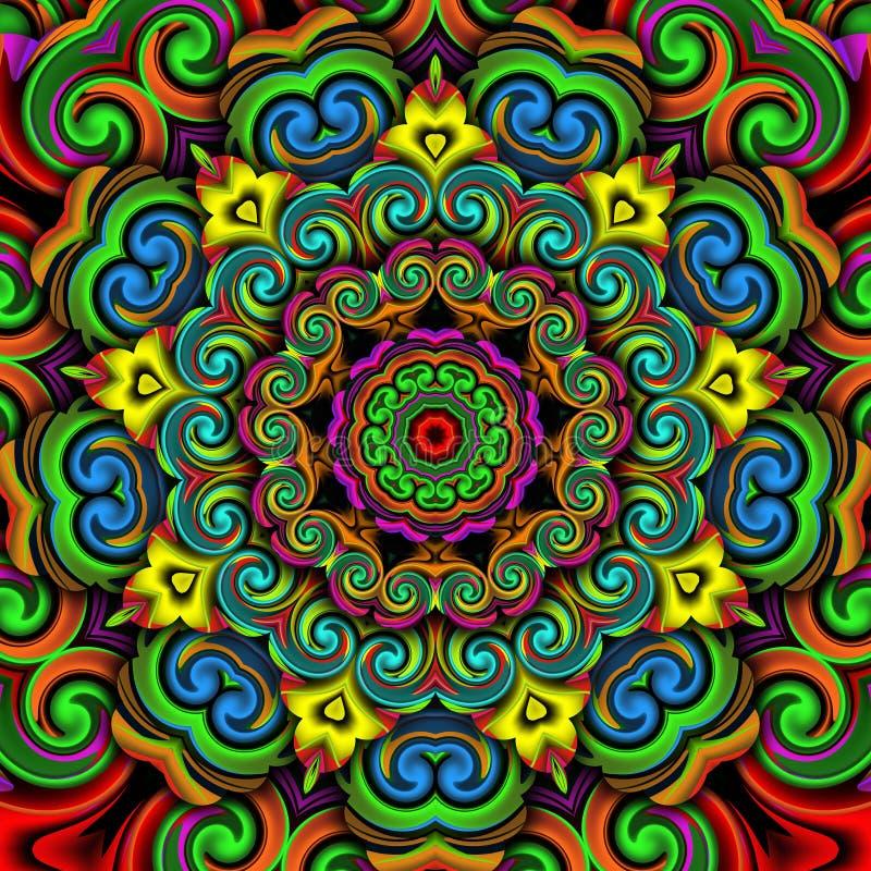 Ornamentencaleidoscoop royalty-vrije illustratie