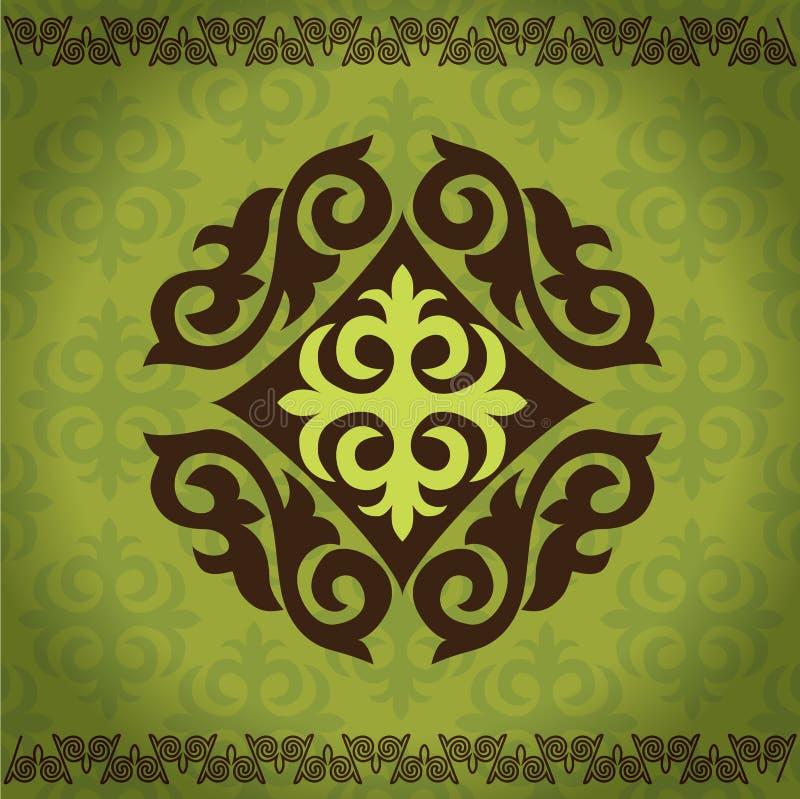 Ornamenti asiatici kazaki illustrazione vettoriale