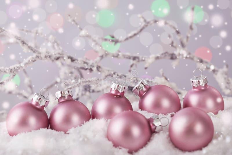 Ornamenti colorati di rosa pastello immagini stock