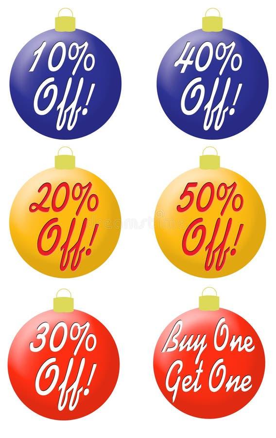 Ornamenti con la percentuale fuori da tipo royalty illustrazione gratis