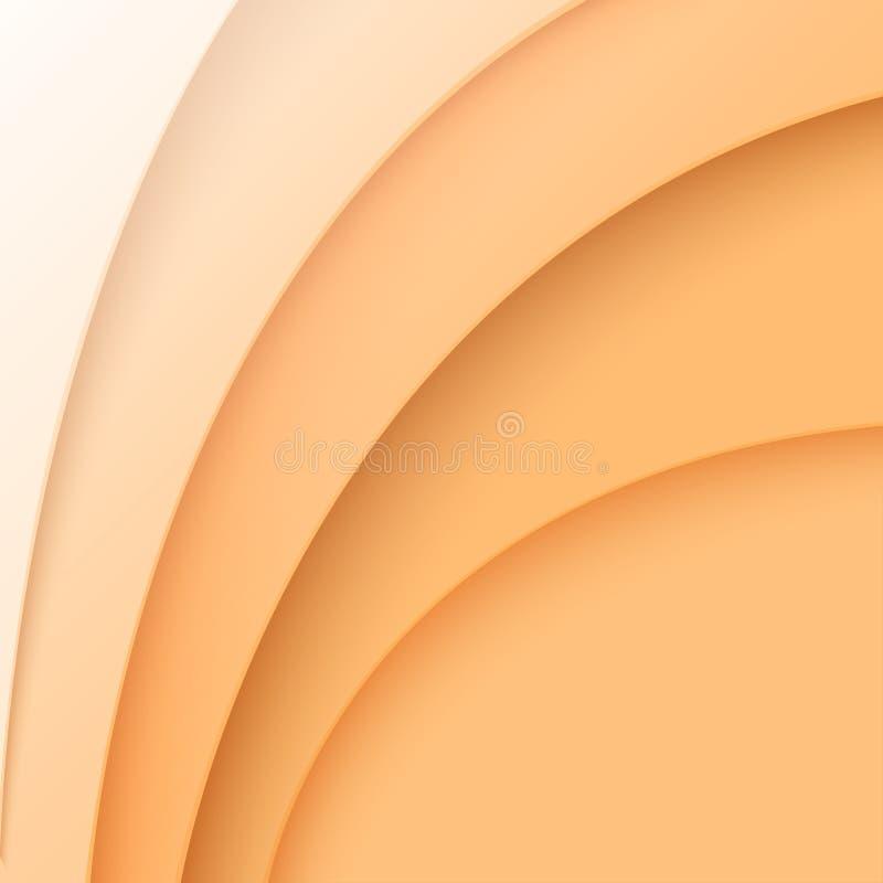 Ornamenti curvi estratto dal taglio di carta arancio royalty illustrazione gratis