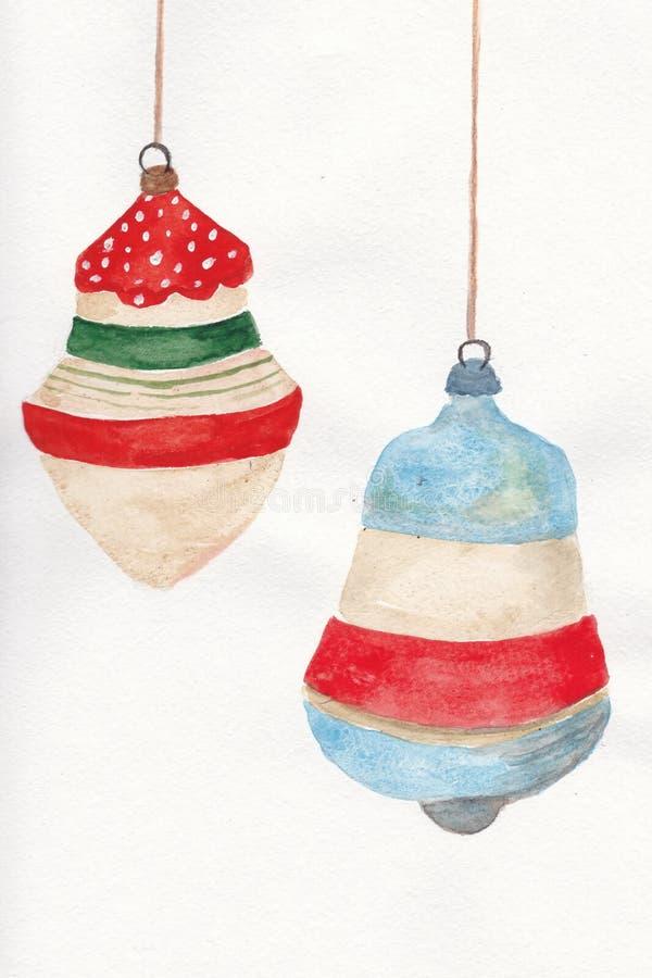 Ornamenti d'annata di Natale fotografia stock libera da diritti