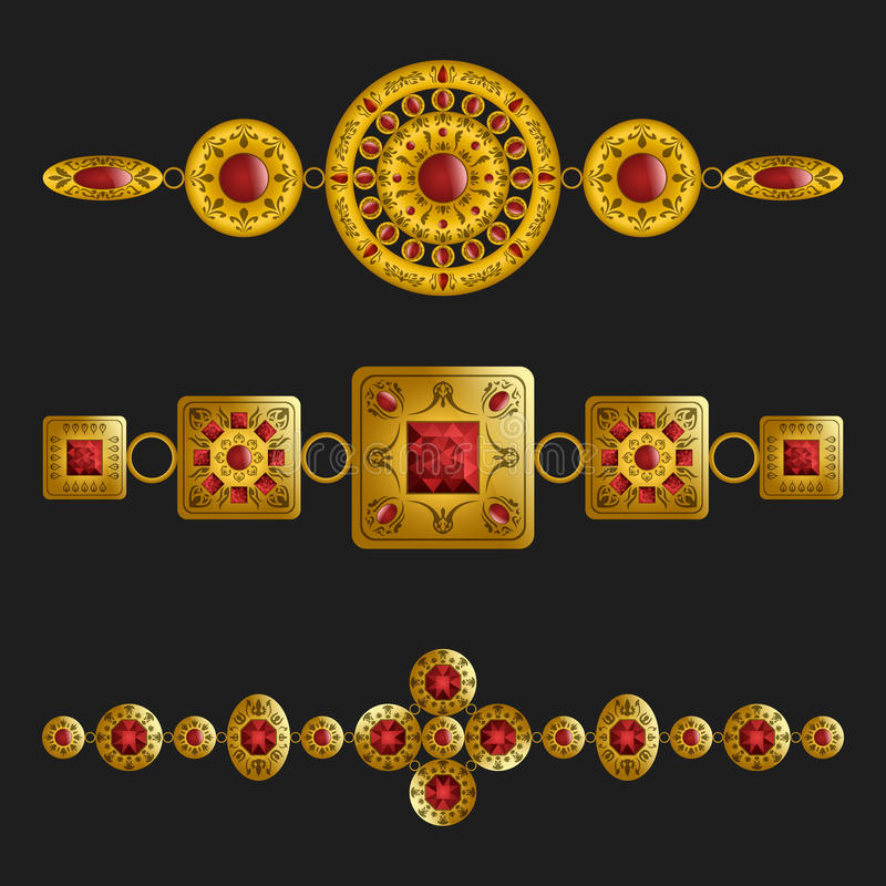 Ornamenti dei gioielli illustrazione vettoriale