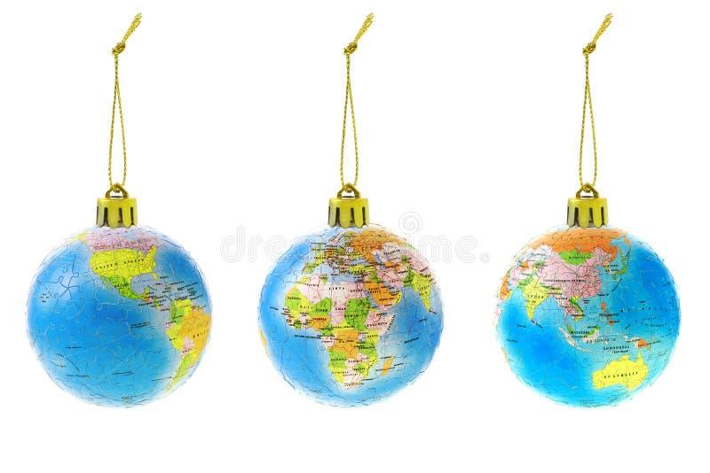 Ornamenti del globo di natale immagine stock