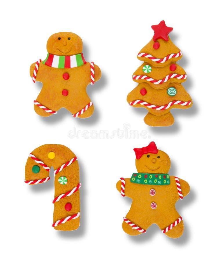 Ornamenti del pan di zenzero immagini stock libere da diritti