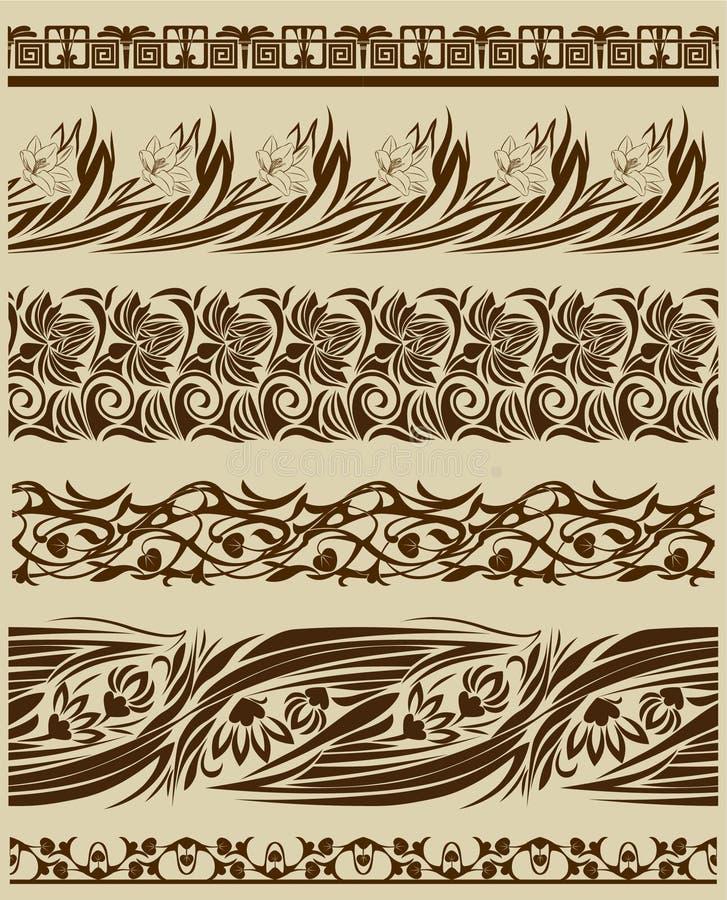 Ornamenti del rotolo dell'annata illustrazione vettoriale
