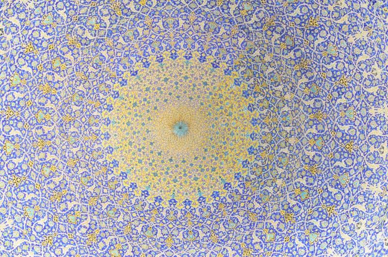 Ornamenti del soffitto della moschea fotografie stock libere da diritti