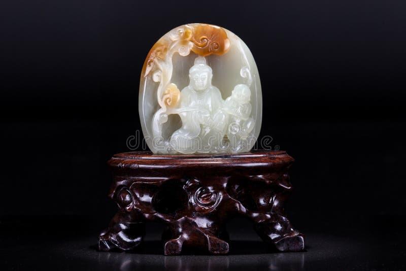 Ornamenti della giada fotografie stock libere da diritti