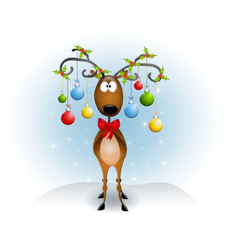 Ornamenti della renna del fumetto royalty illustrazione gratis